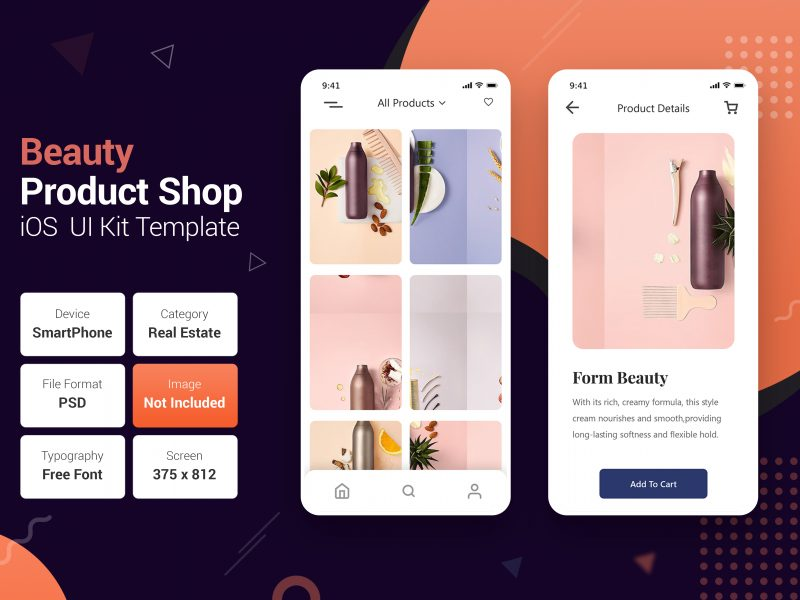 Beauty product online store mobile apps