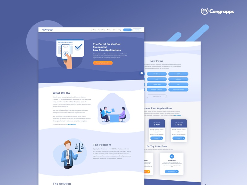 Congrapps landing page