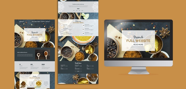 Indian food website templates collection