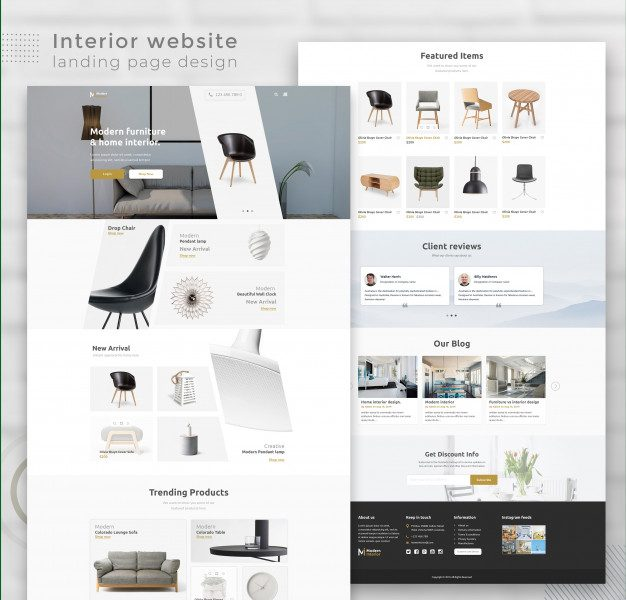 Modern interior ecommerce website