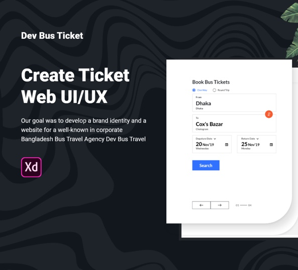 Bus Ticket Web UI