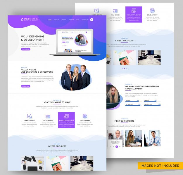 Ui and ux design agency landing page