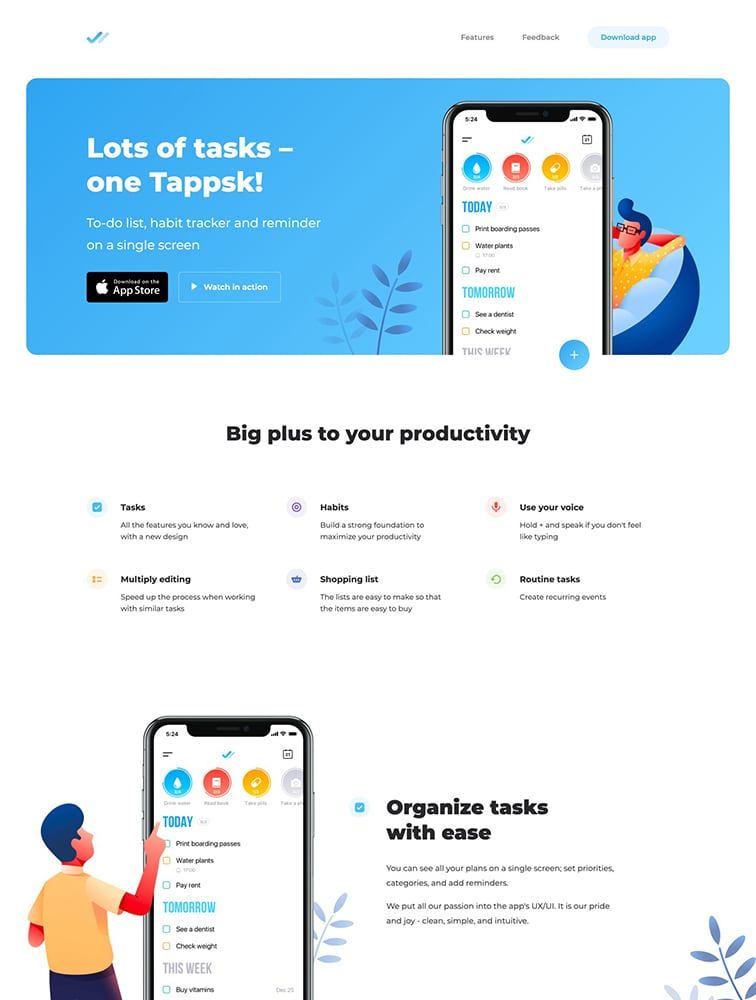 Tappsk – To-do list & habits