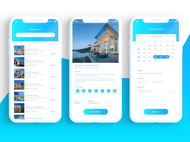 Bokify – Free Hotel Booking App UI Kit