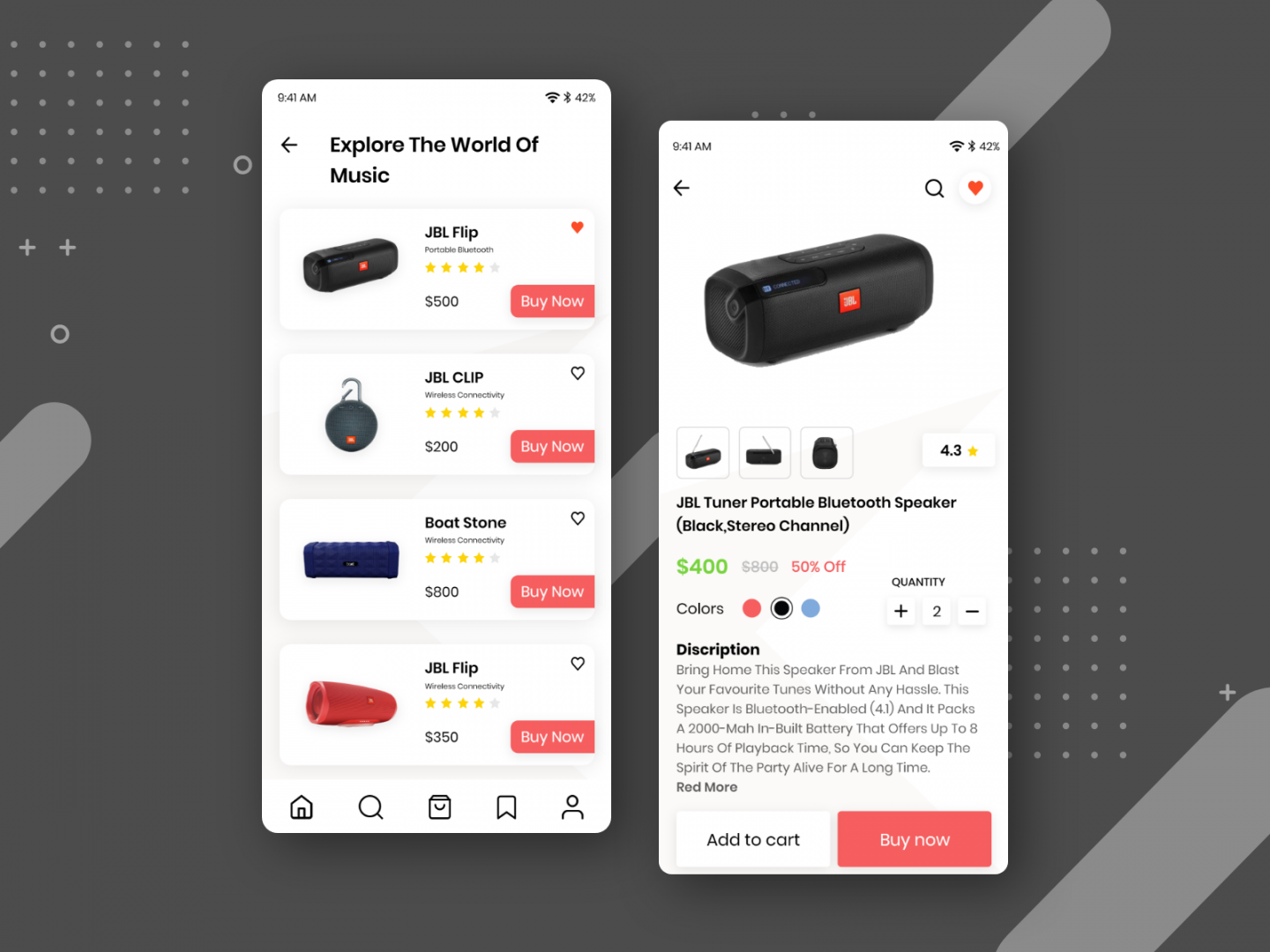 Electronic E-commerce App UI
