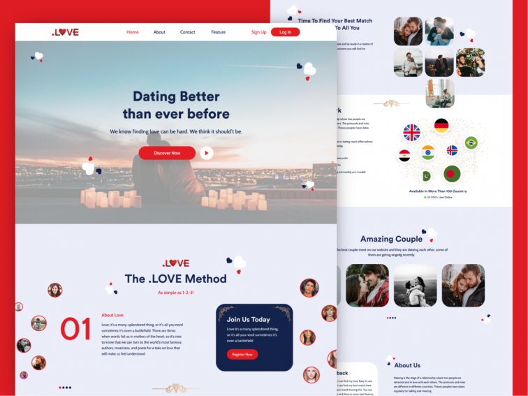 Dating Website Landing Page