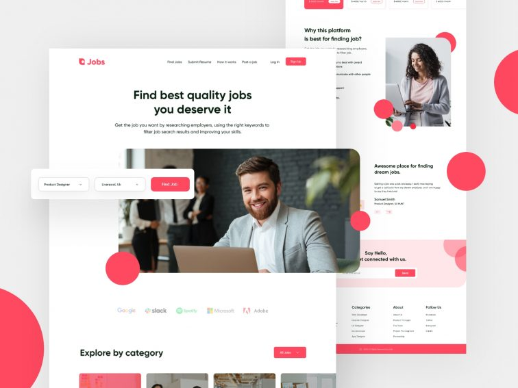 Find Jobs Landing Page