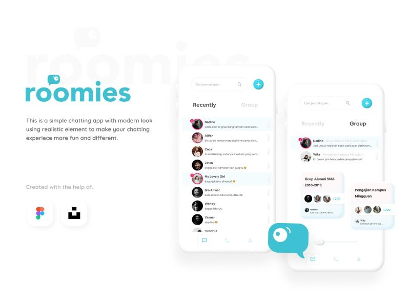 Roomies Chat App Exploration Design