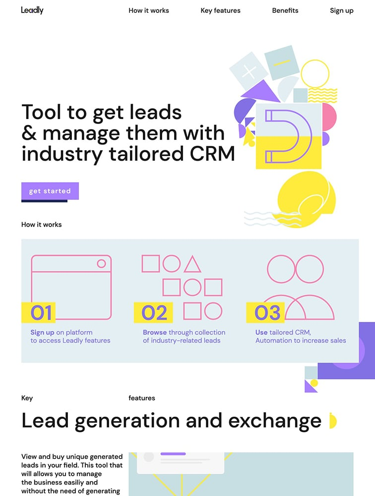 Leadly Webflow