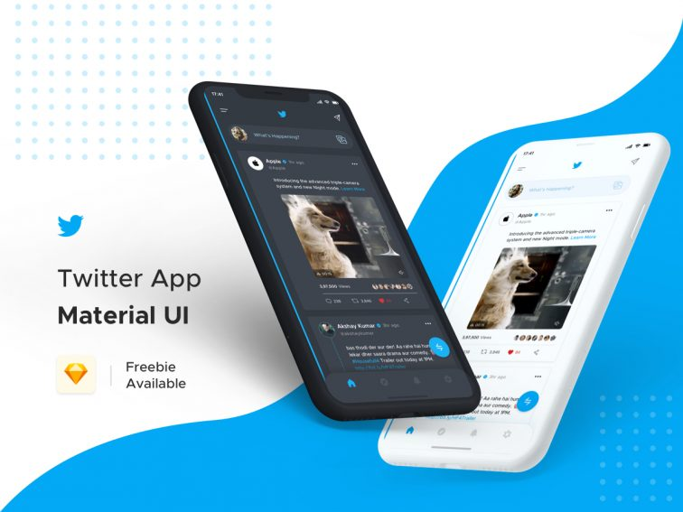 Twitter App Redesign – Light & Dark Theme
