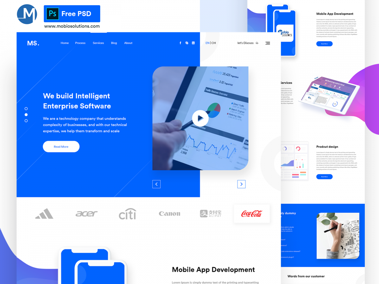MS Agency | Free Multipurpose PSD Template
